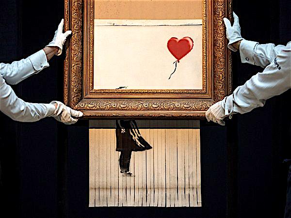 バンクシー 「愛はごみ箱の中に」aka「少女と風船」 Banksy Love Is in the Bin aka Girl with Balloon