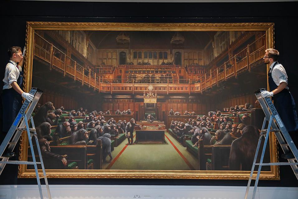 バンクシー 退化した議会 Devolved Parliament @ Sotheby's