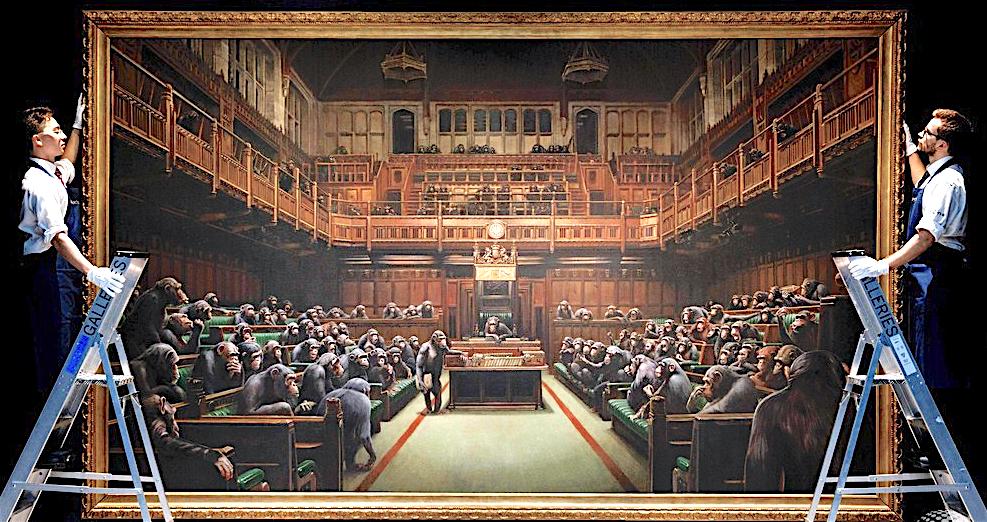 バンクシー 退化した議会 Devolved Parliament
