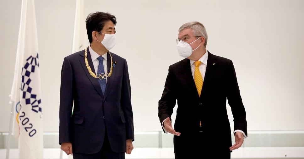 """安倍前首相がIOCから「金」表彰 歴代首相初 招致尽力、""""安倍マリオ""""など評価"""