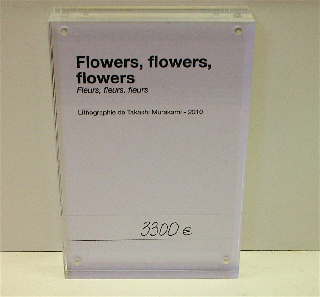 村上隆 MURAKAMI Takashi Flowers, flowers, flowers 2010, ed.300, Offset lithograph, 3.300 Euro @ Versailles museum shop