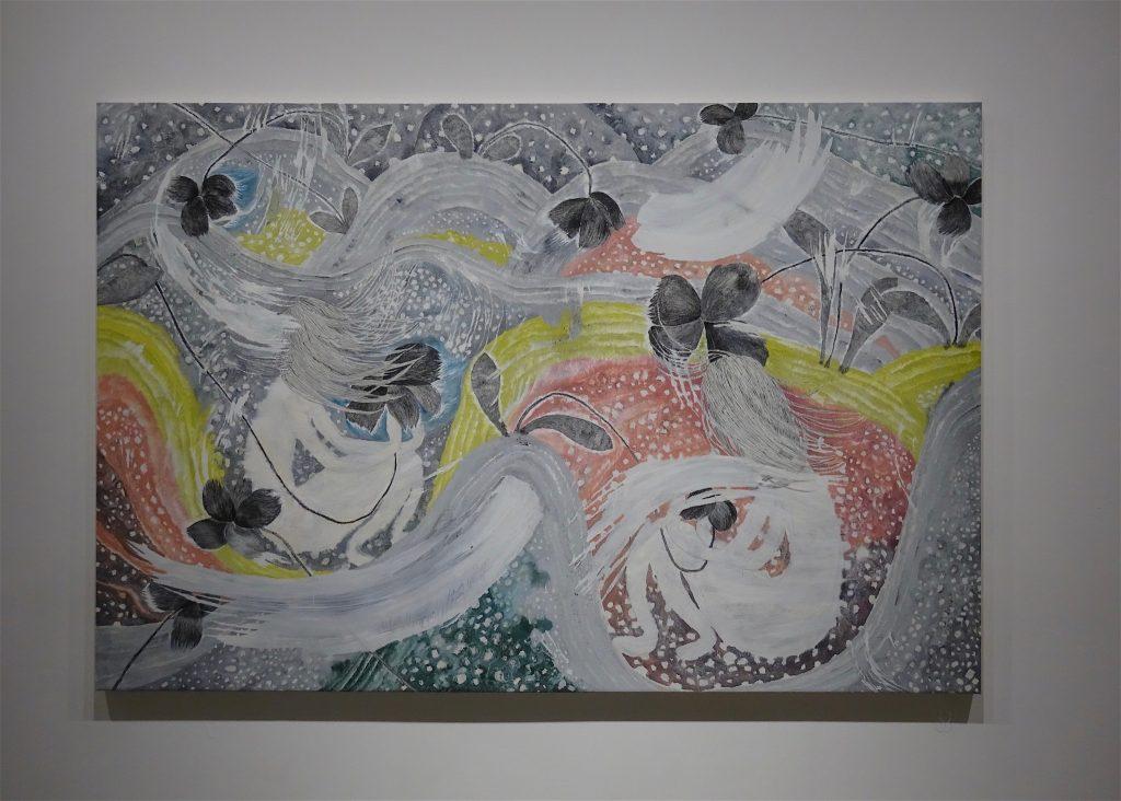 "村瀬恭子 MURASE Kyoko ""Sundy"" 2012, 160 x 240 cm, Oil, crayon on cotton"