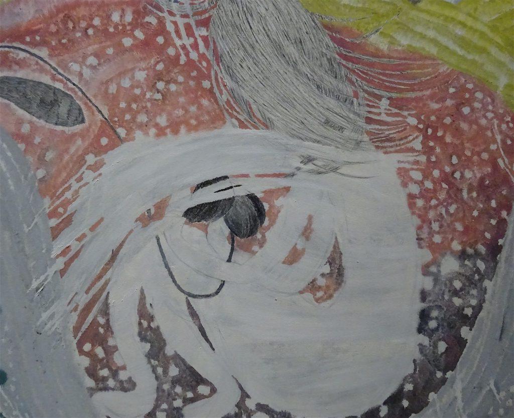 "村瀬恭子 MURASE Kyoko ""Sundy"" 2012, 160 x 240 cm, Oil, crayon on cotton, detail"