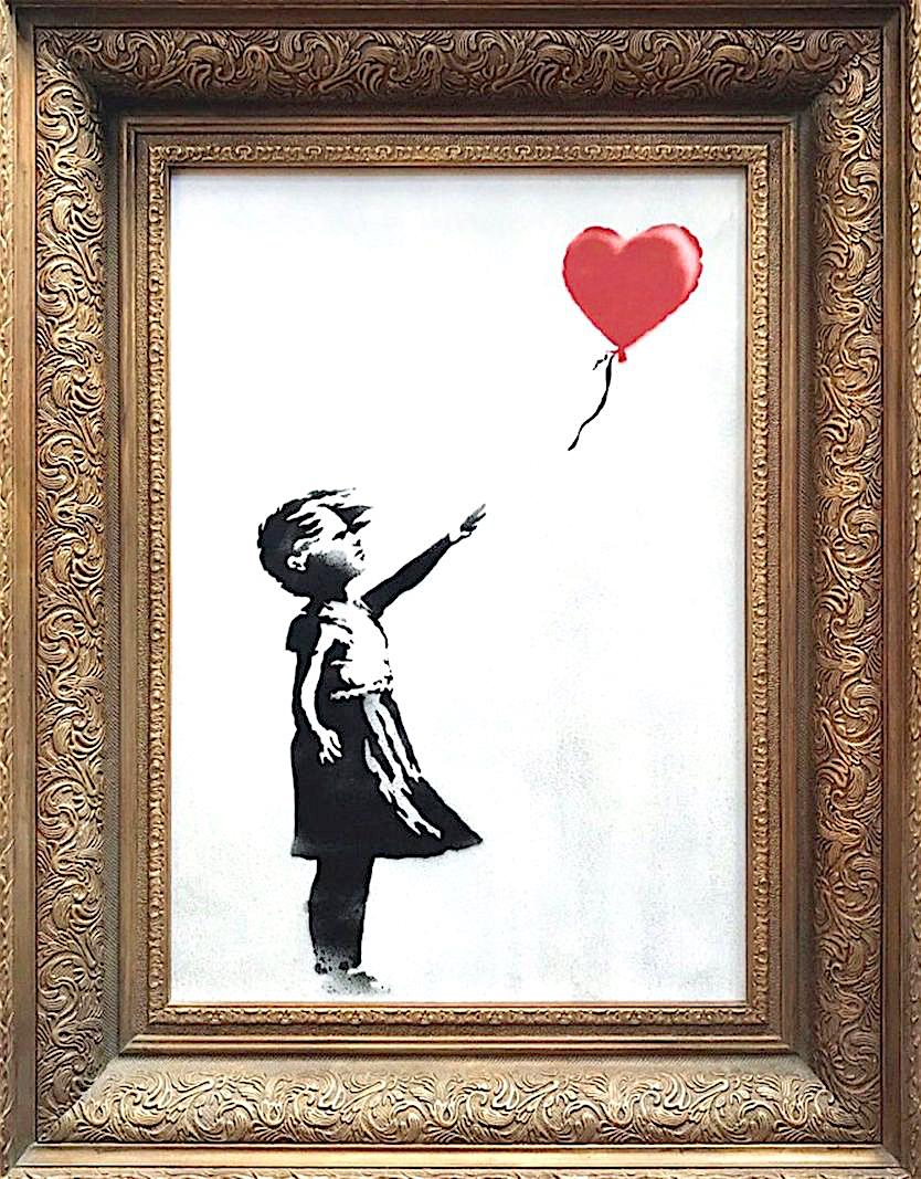 バンクシー「少女と風船」Banksy Girl with Balloon