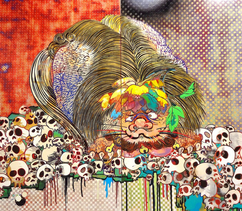 "村上隆 MURAKAMI Takashi ""727-272 The Emergence of God At The Reversal of Fate"" 2006-2009 @ ART LOVERS – Pinault Collection, Grimaldi Forum Monaco, 2014, detail"