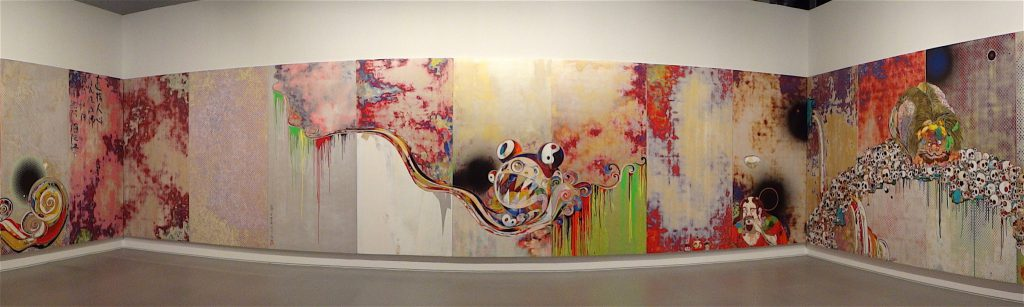 "村上隆 MURAKAMI Takashi ""727-272 The Emergence of God At The Reversal of Fate"" 2006-2009 @ ART LOVERS – Pinault Collection, Grimaldi Forum Monaco, 2014 panorama pic"