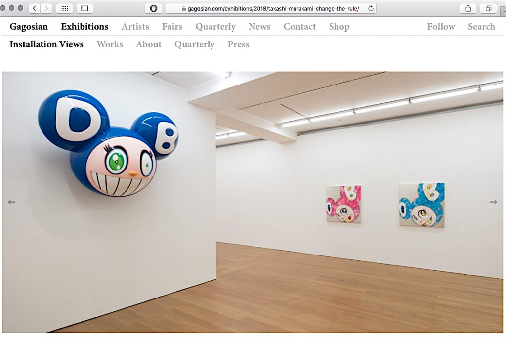 "村上隆 MURAKAMI Takashi ""Change the Rule!"" @ Gagosian Hong Kong, 2018, installation view"