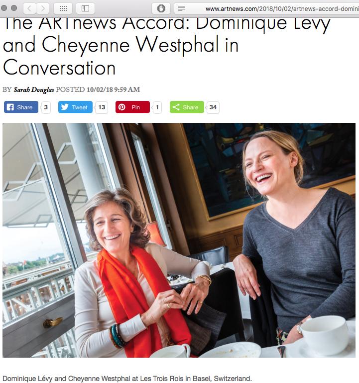 Dominique Lévy and Cheyenne Westphal, via ARTnews, screenshot