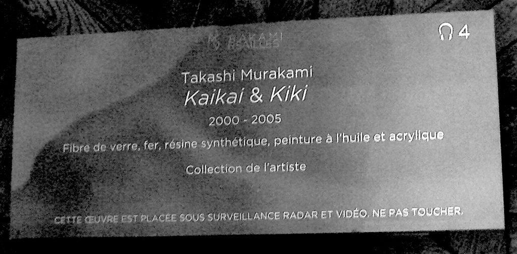 Explanation board 'Takashi Murakami Kaikai & Kiki 2000 – 2005' Fibre de verre, fer, résine synthétique, peinture à l'huile et acrylique. Collection de l'artiste