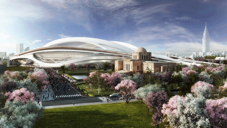 Japanese-architects-rally-against-Zaha-2020-Olympic-Stadium
