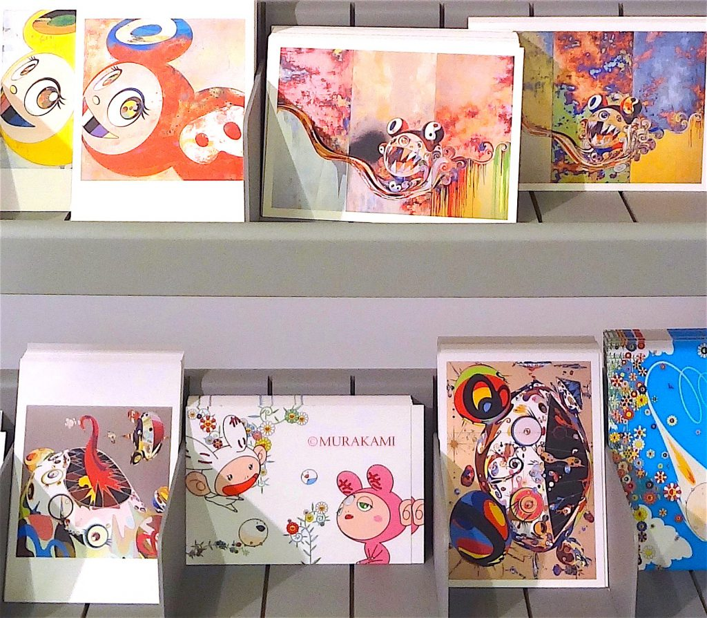 Kaikai Kiki postcards @ ART LOVERS, 2014, Forum Grimaldi Monaco, Souvenir shop