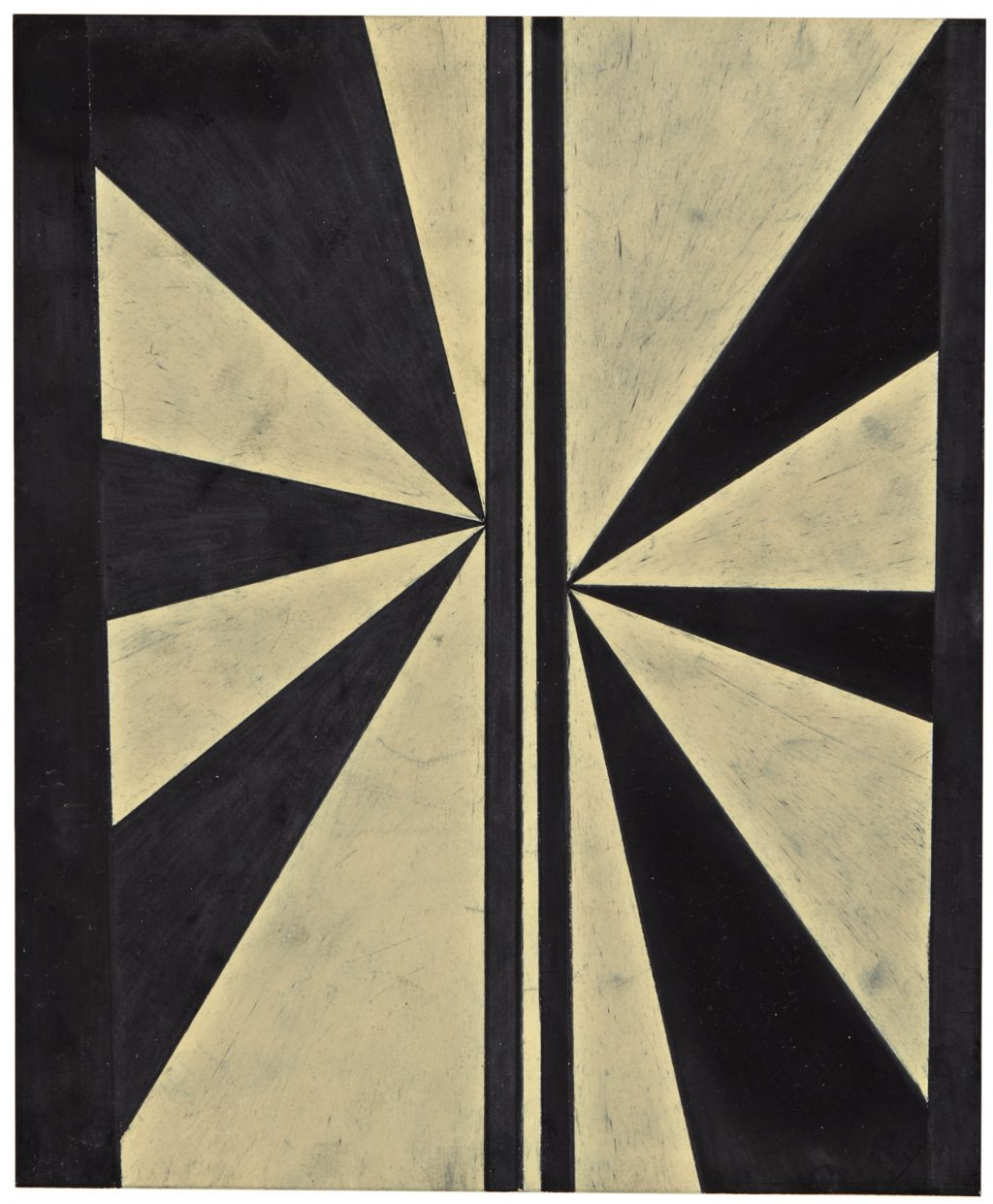 Mark Grotjahn Untitled (Black and Cream Butterfly) 2005, unsold Sotheby's Sept. 2018