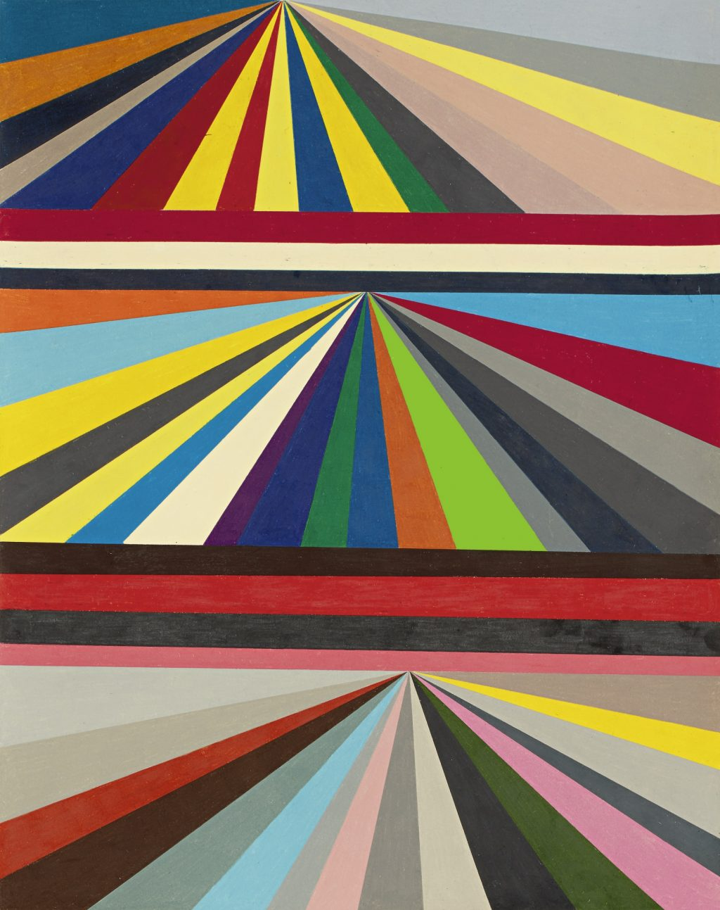 Mark Grotjahn Untitled Three-Tiered Perspective 2000, unsold Sotheby's Sept. 2018