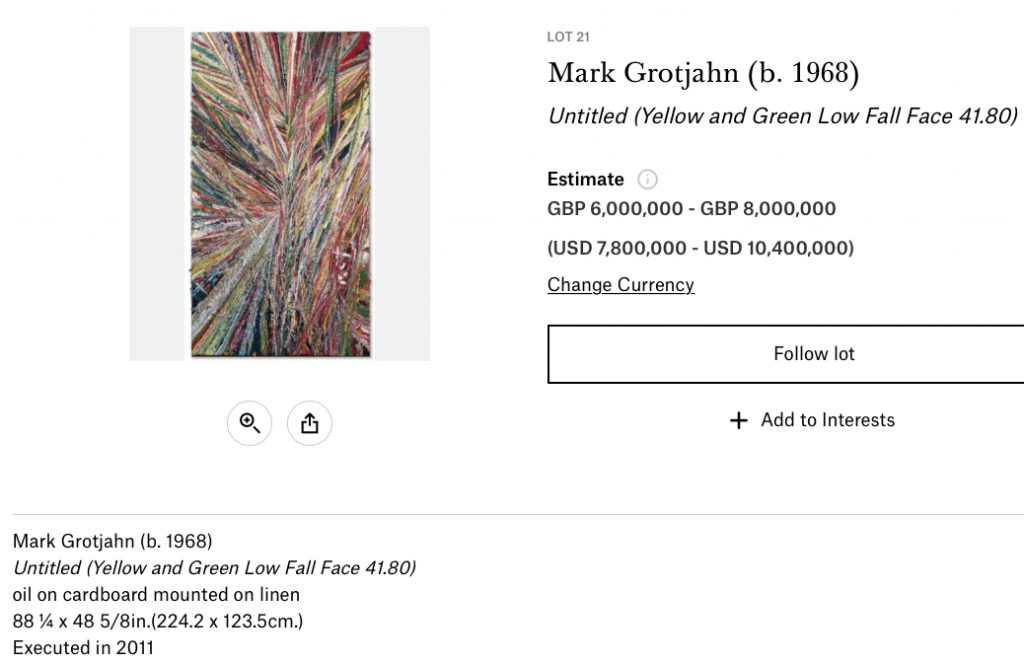 Mark-Grotjahn-Untitled-Yellow-and-Green-Low-Fall-Face-41.80-Christies-website