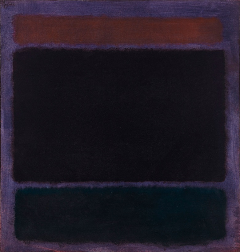 Mark Rothko Untitled (Rust, Blacks on Plum) 1962, oil on canvas (152.4 x 144.8 cm)