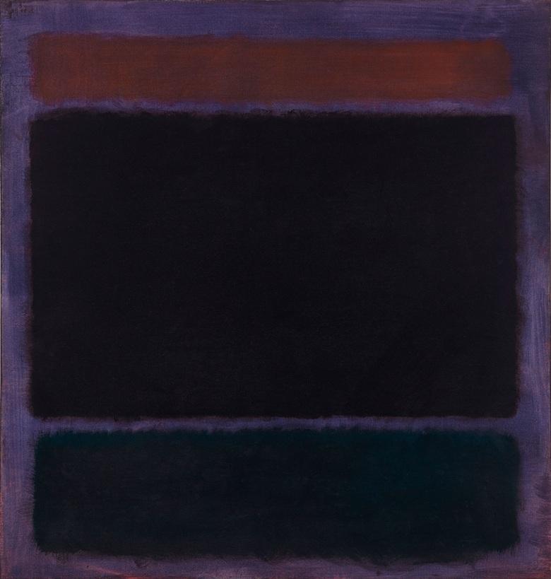 Mark Rothko Untitled (Rust, Blacks on Plum) 1962, oil on canvas (152.4 x 144.8 cm)