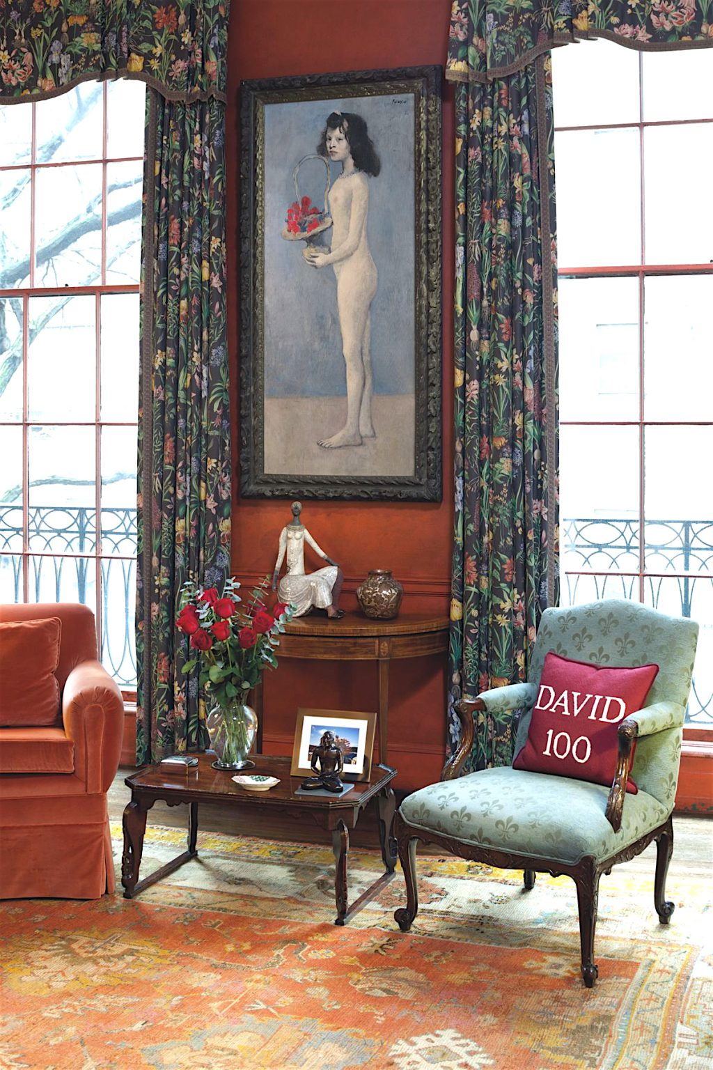 Pablo Picasso Fillette à la corbeille fleurie 1905 @ Peggy + David Rockefeller library, 65thStreet New York Townhouse