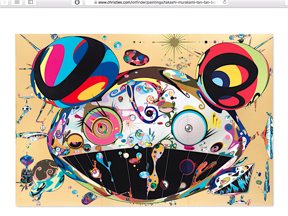 "村上隆 MURAKAMI Takashi ""Tan Tan Bo"" 2001, sold for US$ 5.037.500 @ Christie's New York, 15 November 2018"