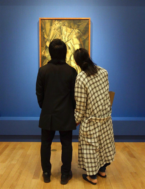 マルセル・デュシャン Marcel Duchamp 'Nude Descending a Staircase (No.2)' 1912, oil on canvas, Philadelphia Museum of Art