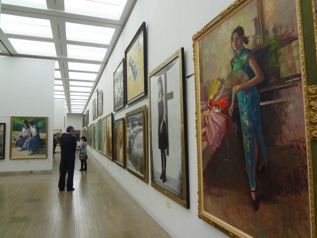 2013年 第45回 日本美術展覧会 (日展)の展示風景(洋画)