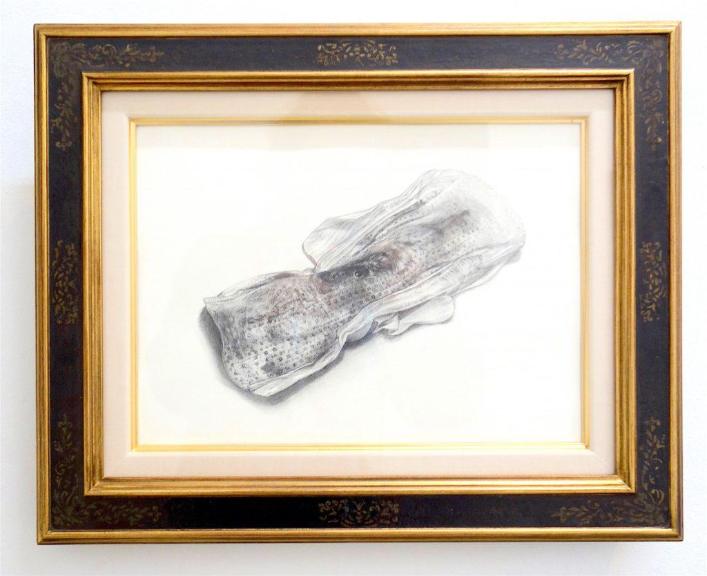 MAKIDA Emi 牧田恵「君の性癖を体感する」2018、筆、紙、 320 x 407 mm