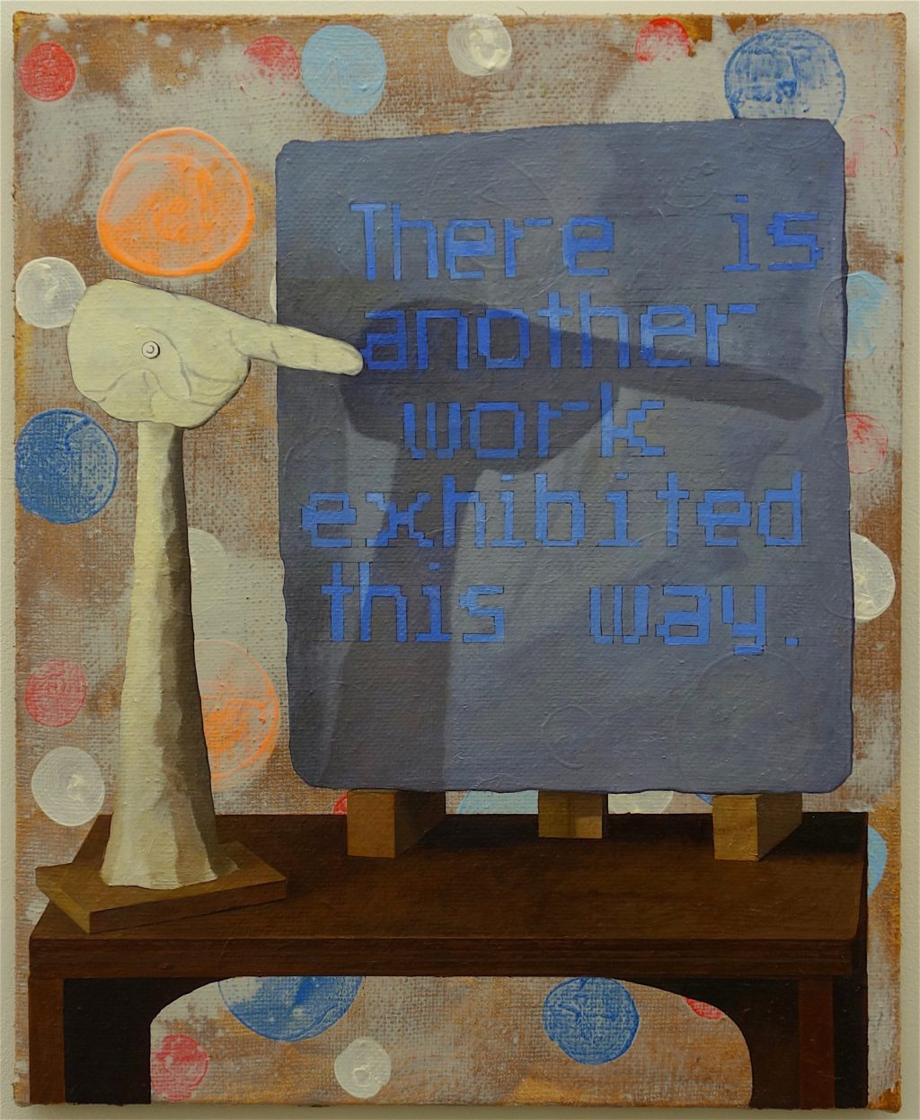 千葉正也 CHIBA Masaya 「こっちにも作品が展示されています。There is another work exhibited this way.」2018 キャンバス、油彩