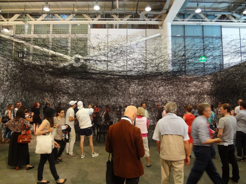 塩田千春 SHIOTA Chiharu @ Art Unlimited, Art Basel Switzerland 2013
