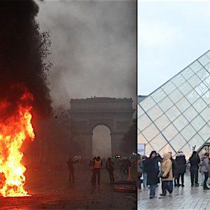 """パリ、、、とルーブル美術館ピラミッド内 特別展示 名和晃平作「Throne」 """"オン・ファイア"""""""