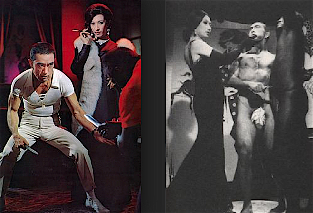 美輪 明宏 MIWA Akihiro + 三島由紀夫 MISHIMA Yukio in the film 黒蜥蝪 Black Lizard 1968