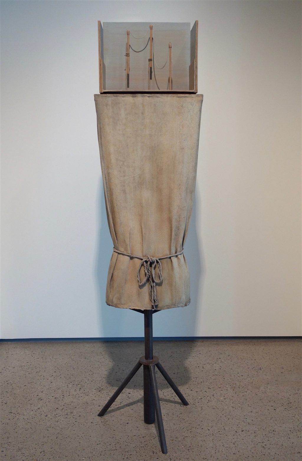 "Mark Manders ""Figure Study"" 1997-2015, patinated and painted bronze"