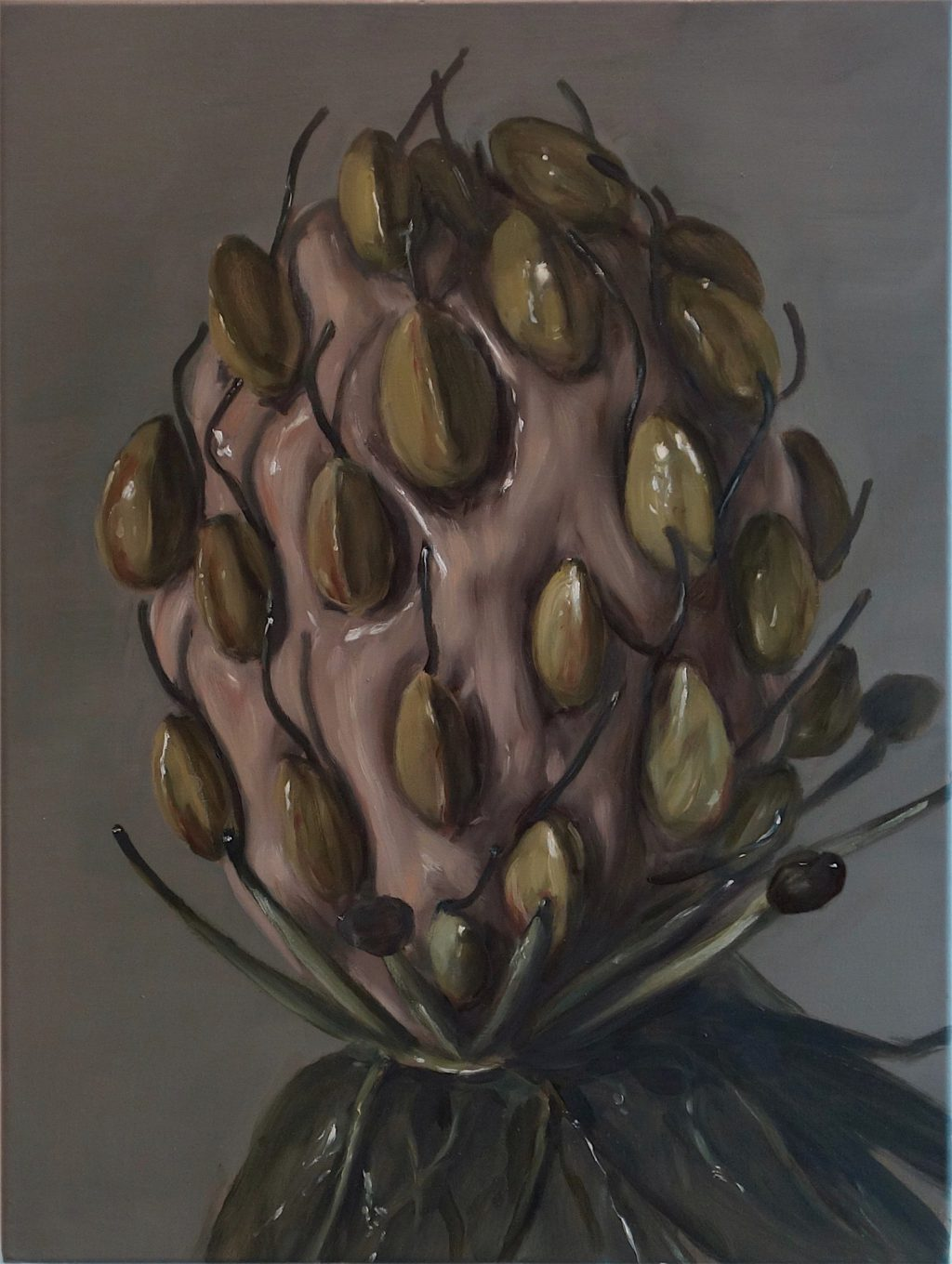 "Michaël Borremans ""Alien"" 2018, oil on canvas"