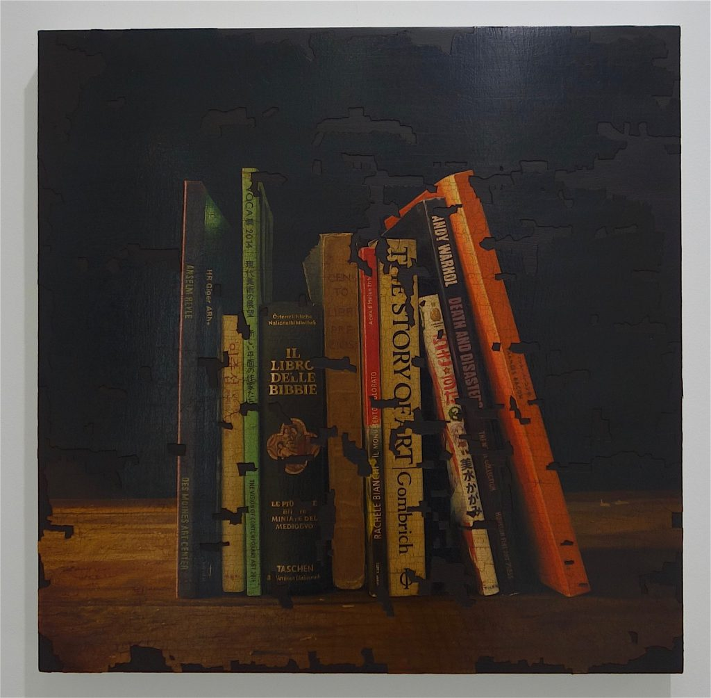 TADA Keisuke 多田圭佑「残欠の絵画 ♯46」(Painting of incomplete remains #46) 2018年、木製パネル、綿布、油絵具、アクリル絵具 wooden panel, oil and acrylic on cotton
