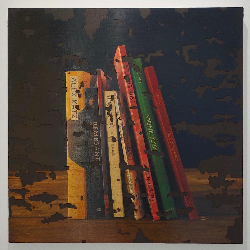 TADA Keisuke 多田圭佑「残欠の絵画 ♯47」(Painting of incomplete remains #47) 2018年、木製パネル、綿布、油絵具、アクリル絵具 wooden panel, oil and acrylic on cotton