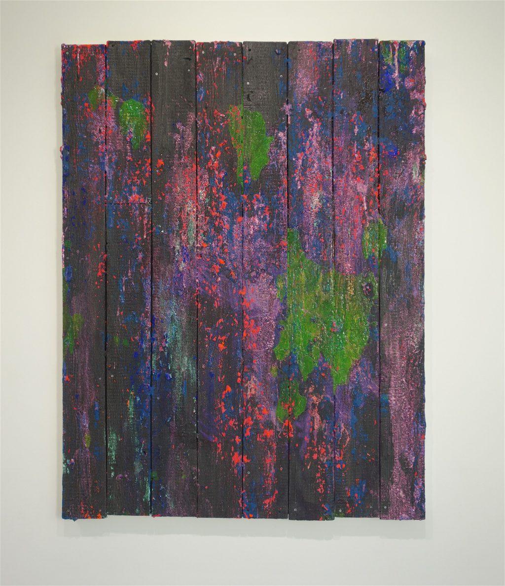 TADA Keisuke 多田圭佑「trace wood ♯59」2018年、木製パネル、綿布、アクリル絵具、ピグメント wooden panel, acrylic and pigments on cotton