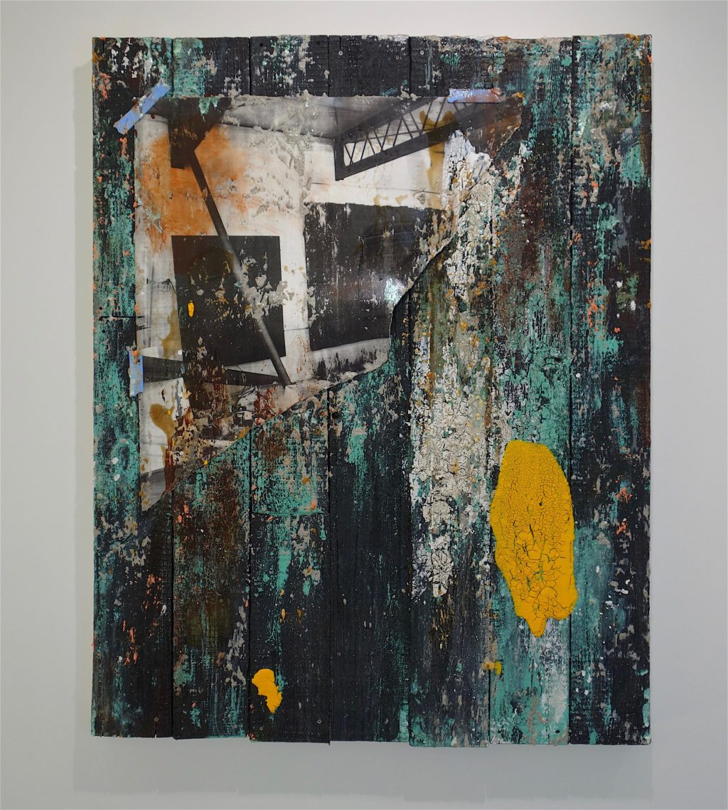 TADA Keisuke 多田圭佑「trace wood ♯60」2018年、木製パネル、綿布、アクリル絵具、ピグメント wooden panel, acrylic and pigments on cotton