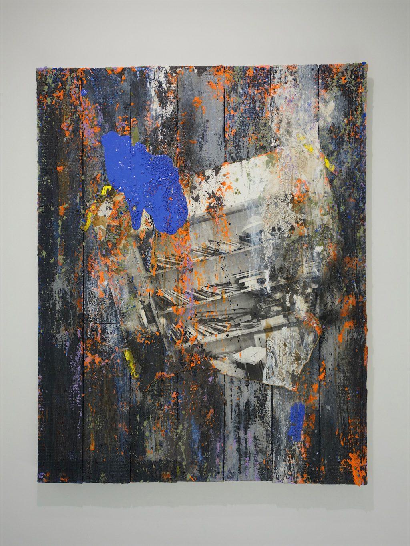 TADA Keisuke 多田圭佑「trace wood ♯61」2018年、木製パネル、綿布、アクリル絵具、ピグメント wooden panel, acrylic and pigments on cotton