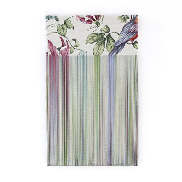 "TEZUKA Aiko 手塚愛子 ""Fragile Surface (daydream) 2017- 011"" 2017:2018, Unravelled fabric, 51 x 31 cm"