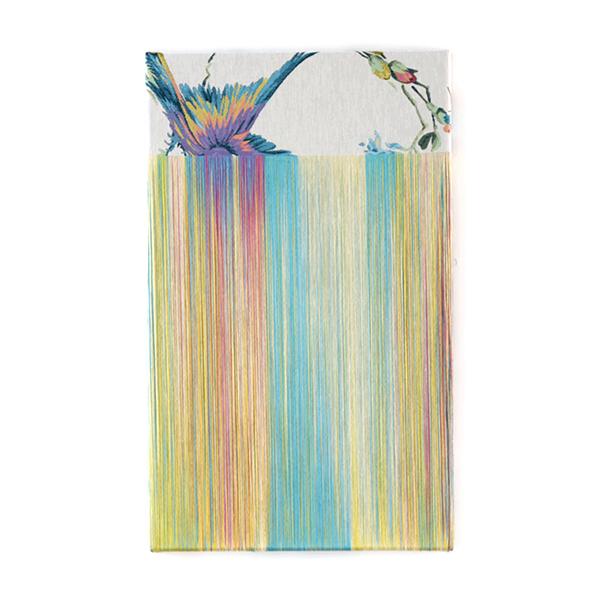 "TEZUKA Aiko 手塚愛子 ""Fragile Surface (daydream) 2018- 005"" 2018, Unravelled fabric, 51 x 31 cm"
