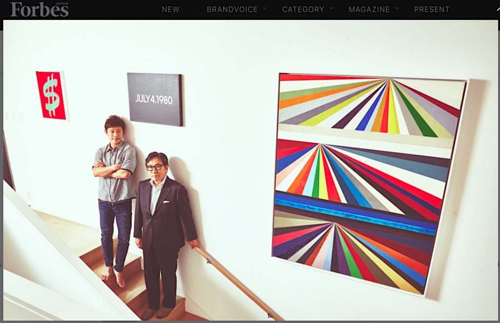 サザビーズジャパン社長の石坂泰章とZOZOTOWN運営会社代表の前澤友作