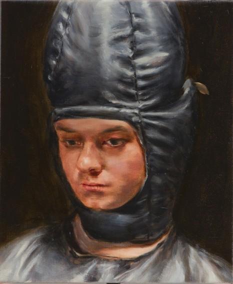 ミヒャエル・ボレマンス Conehead, oil, 36 x 30 cm, 2020
