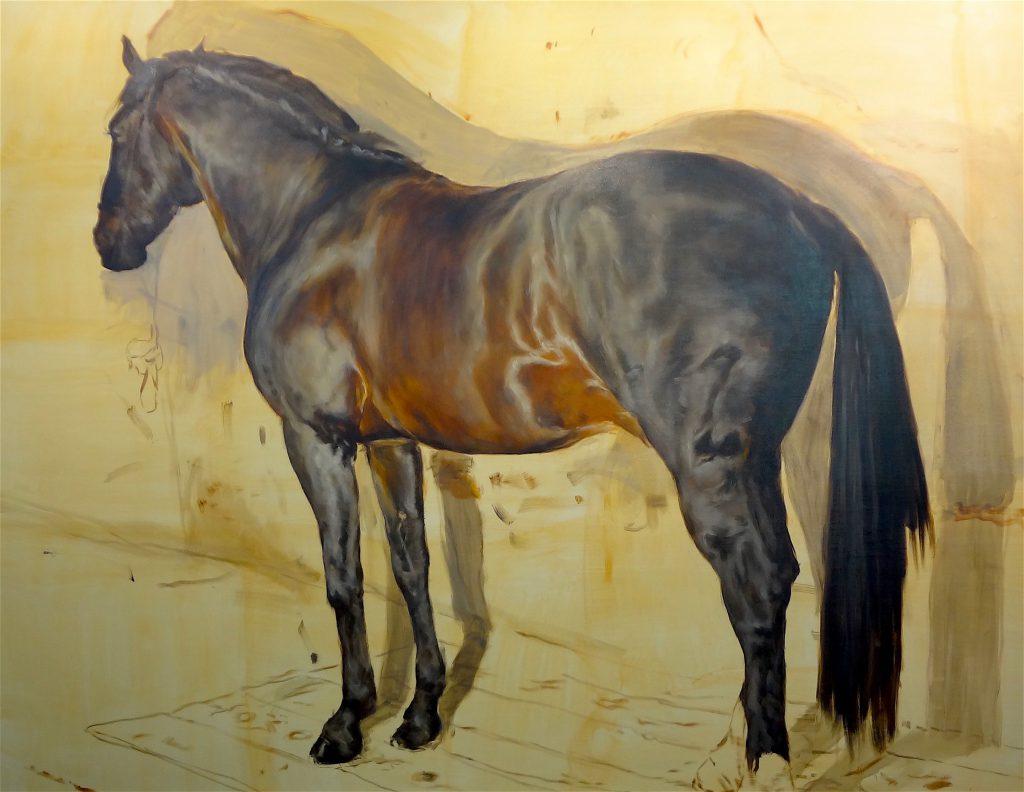 """ミヒャエル・ボレマンス Michaël Borremans """"The Horse"""" 2015, 300 x 386 cm, oil on canvas, detail"""