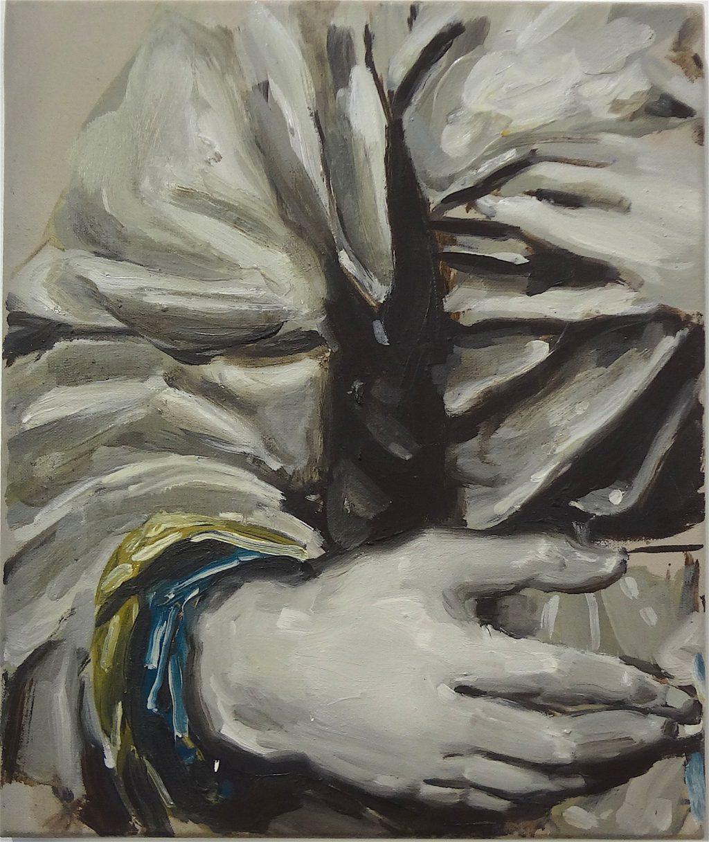 """ミヒャエル・ボレマンス Michaël Borremans """"The Prophecy"""" 1999, 50 x 42 cm, oil on canvas"""