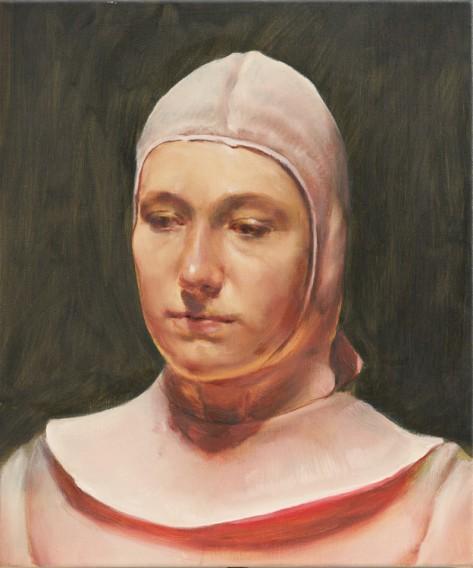 ミヒャエル・ボレマンス The Pilot, oil, 50,2 x 42, 2 cm, 2020