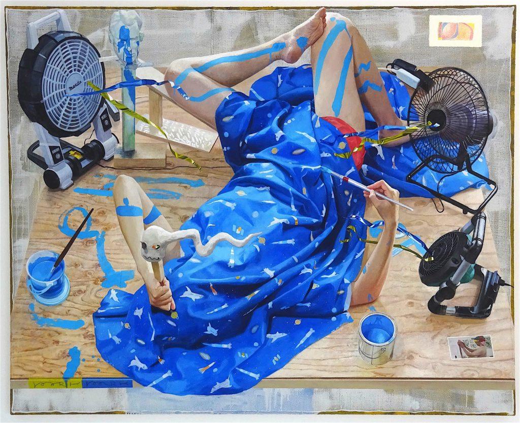 千葉正也 CHIBA Masaya 「Pork Park #5」2016, oil on canvas, 130 x 162 cm
