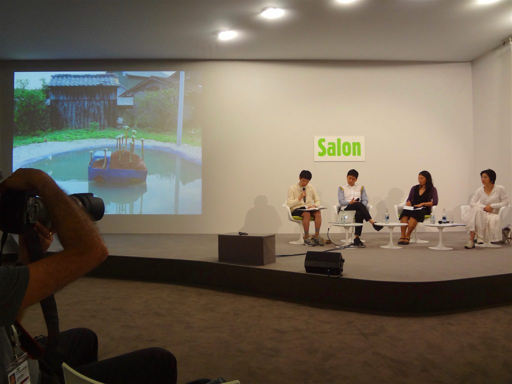 "ART BASEL, Salon 2014:6:21. Artist Talk ""Japan's Post Murakami Generation"" Kohei Nawa, Artist, Kyoto; Fumio Urabe, Artist, Nagoya, in conversation with Yuko Hasegawa, Chief Curator, Museum of Contemporary Art, Tokyo"