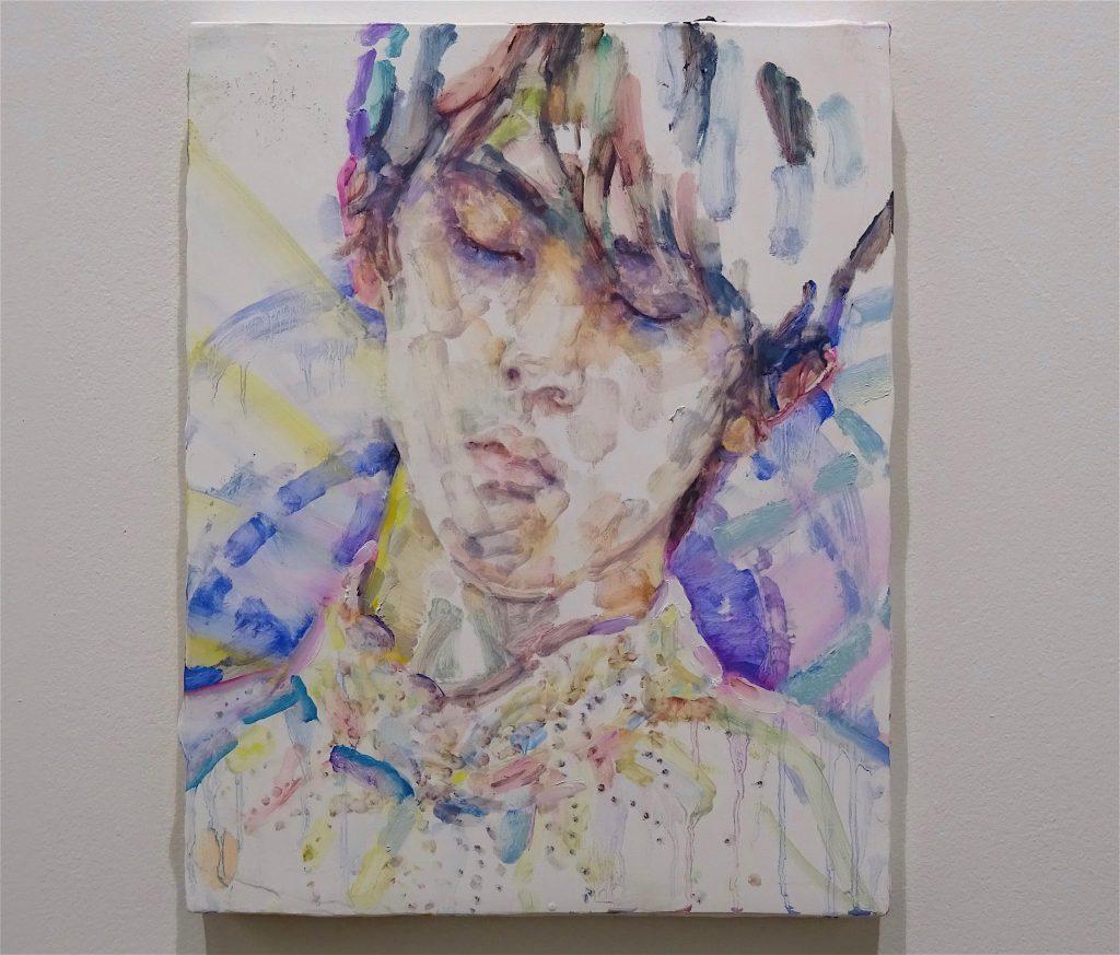 Elizabeth Peyton Hanyu (Yuzuru Hanyu) 2018, Oil on board, Galerie Thaddaeus Ropac