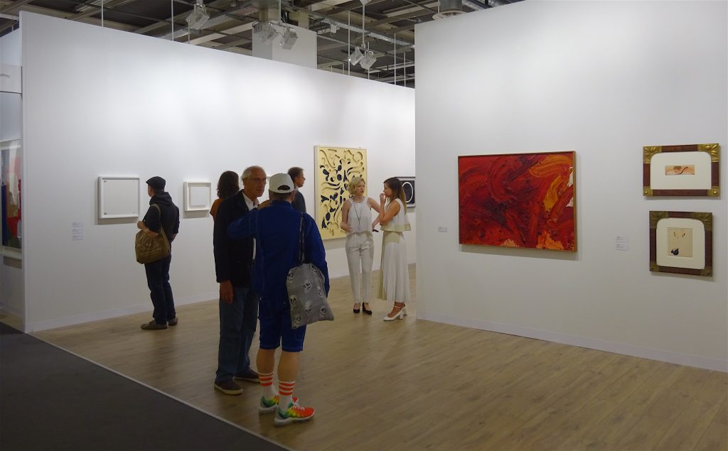 "Fergus McCaffrey booth, right wall, Kazuo Shiraga ""Untitled"" 1964, Oil on canvas, 97 x 130.3 cm"