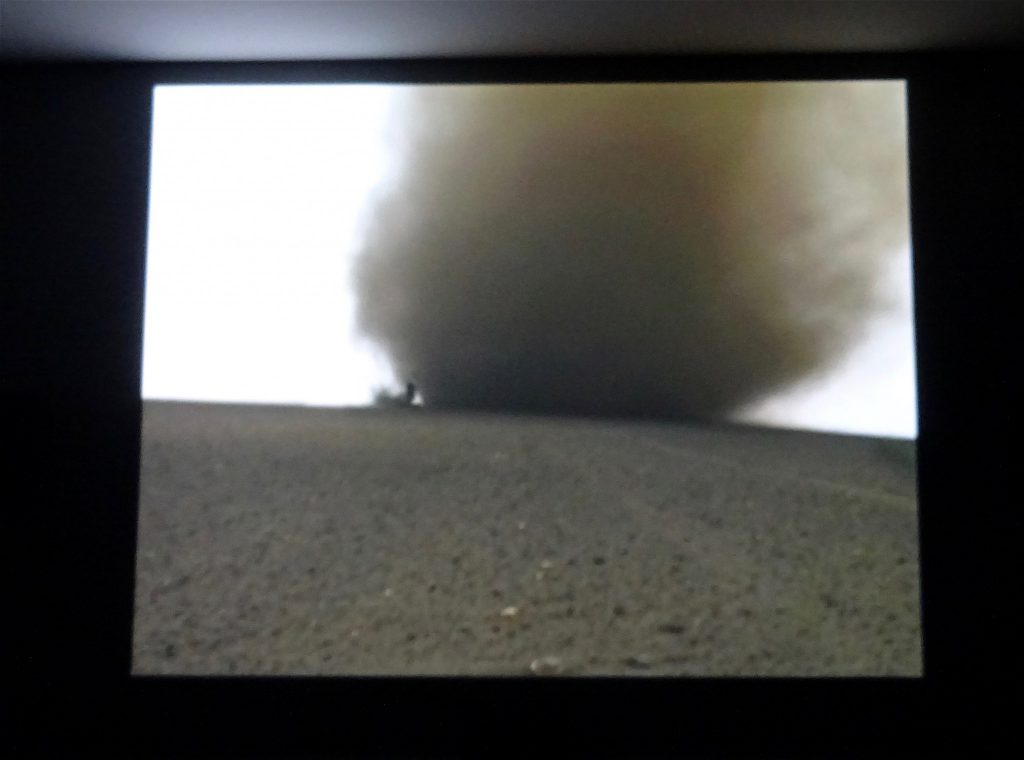 "Francis Alÿs ""Tornado"" 2000 – 2010, Single-channel video projection; color, 5.1 surround sound; 39'; edition of 4; in collaboration with Julien Devaux @ UNLIMITED David Zwirner"