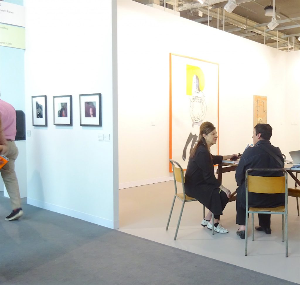 Galerist Maureen Paley and curator Beatrix Ruf