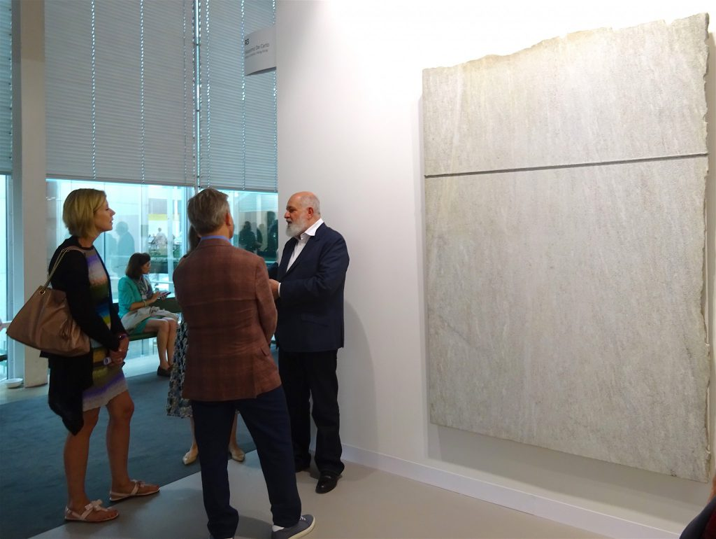 Gallery owner Massimo De Carlo (beard)
